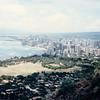Waikiki and Honolulu - (August 23, 1986 / Diamond Head State Monument,  Honolulu, Oahu, Hawaii) -- View of Waikiki and Honolulu from Diamond Head