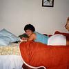 Cristen Relaxing in her Bedroom - (July 6, 1986 / Sandstone Court, Folsom, Sacramento County, California) -- Cristen