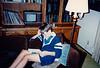 Jonathon Reading in the Livingroom  - (June 7, 1987 / Sandstone Court, Folsom, Sacramento County, California) -- Jonathon