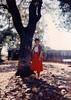 MaryAnne under the Backyard Live Oak Tree  - (May 17, 1987 / Sandstone Court, Folsom, Sacramento County, California) -- MaryAnne