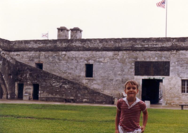 Andrew on parade ground - (September 11, 1987 / Castillo de San Marcos National Monument, Saint Augustine, Saint John's County, Florida) -- Andrew