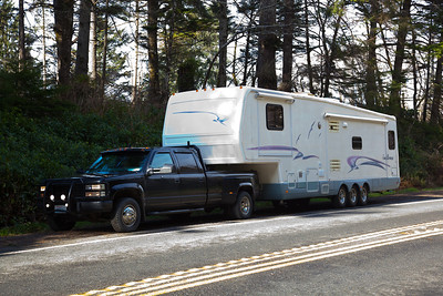 The truck and the 5th wheel travel trailer. A great way to spend time as a family.