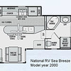 National RV Sea Breeze 5th wheel. Model 2361 floor plan