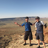 Ed and Marc on Gooseberry Mesa.