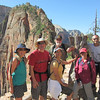 Mina, Hans, Hope, Pat, Gina and Adei on Angels Landing