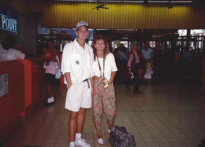 Joe and Erna at the airport