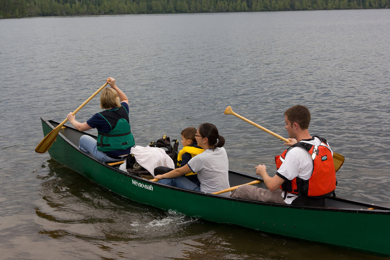 A short canoe ride back to camp. The next day Bryce went on his first day trip into the BWCA, entering at Bearskin and Duncan Lake and canoeing to Stairway Portage at Rose Lake.