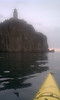 Becca and I went on a early morning paddle by the Split Rock Lighthouse. 7 miles total.