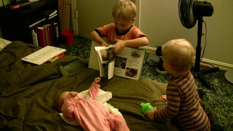 Zach reads to Joy