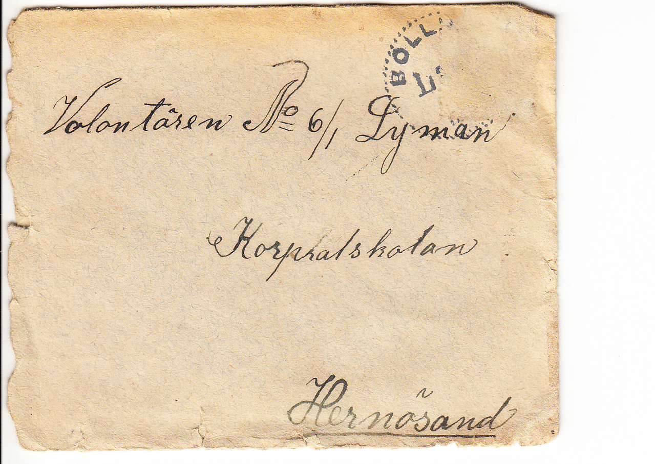 Erik Lyman #6 Brev kuvert fram