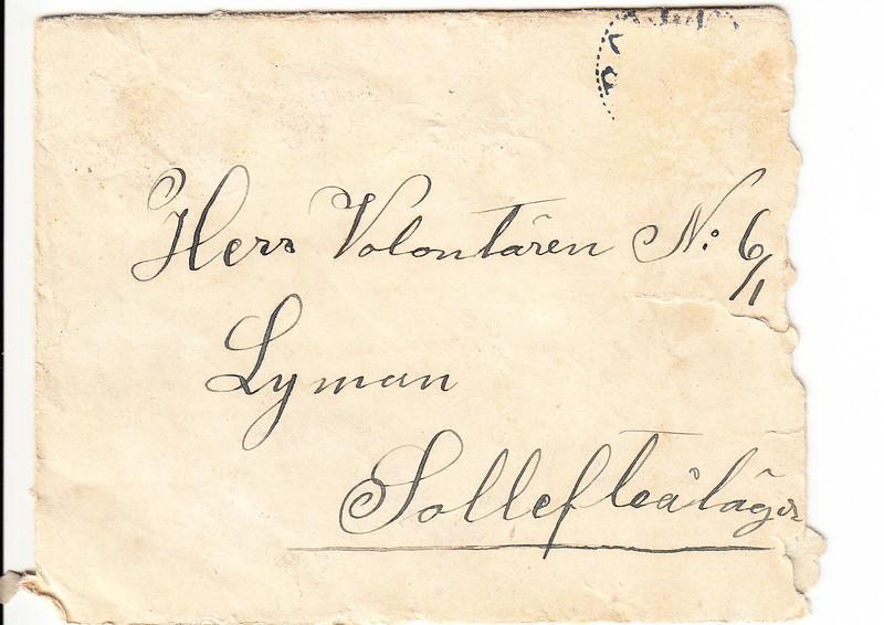 Erik Lyman #10 Brev kuvert fram