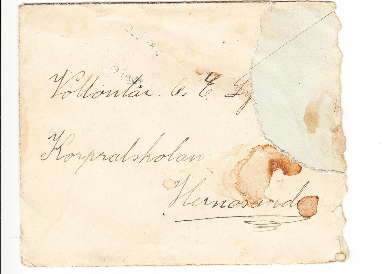 Erik Lyman Brev kuvert fram