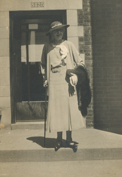 """Grandma harris, Chicago, in Buffalo, about 1930"""