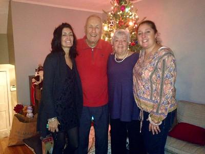 Christmas 2015: Lea, Dad, Mom, and Gina.