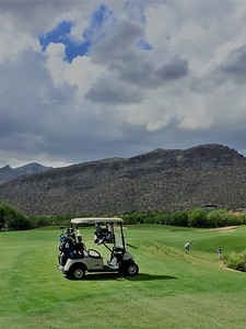 04/28/17: The golf course follows the rugged natural flow of the land across shady mesquite-lined arroys and skirts craggy rock outcroppings.