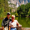 Photo taken on the Swinging Bridge. Upper Yosemite Falls in the background.