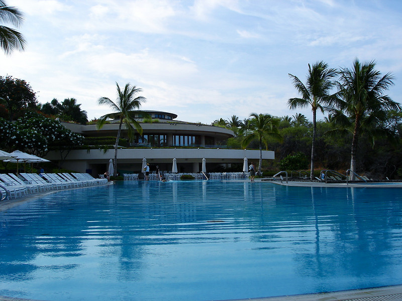 The Hapuna Beach Prince Pool & Bar area.