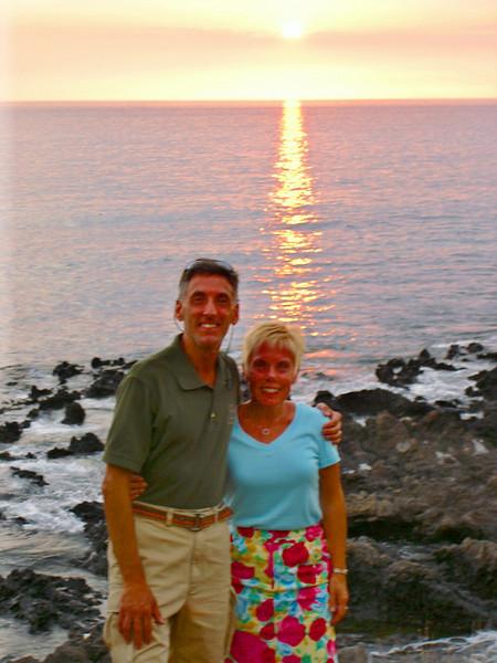 06/26/06: Sunset on Hapuna Bay.