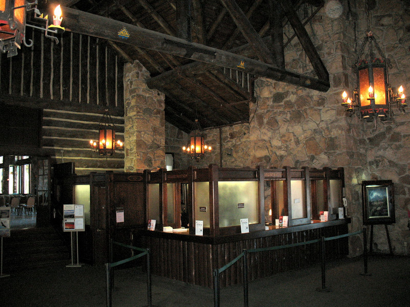 This is the Main Lobby of the Grand Canyon Lodge and Registration area.