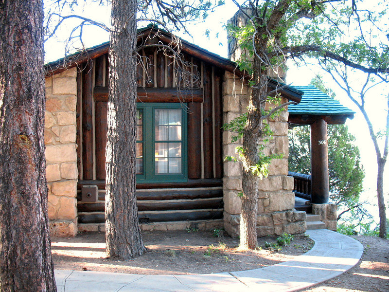 This was our cabin  #306, which is located literally on the edge of the North Rim. It took us over two years to get on the waiting list and make this reservation a reality.