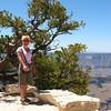 Diane hiking along the Bright Angel Point Trail.