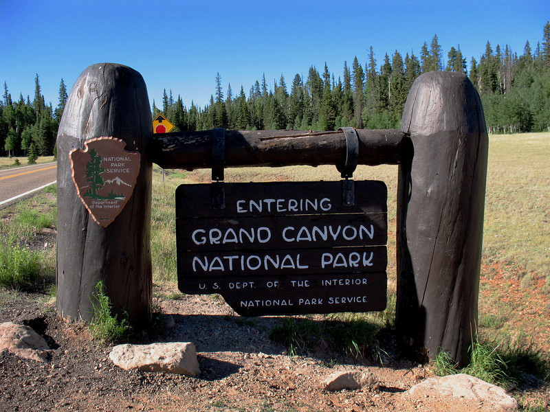 After driving approx 29 miles on the Rt.67 access road you approach the entrance to the park. The North Rim is still another 12 miles to go!
