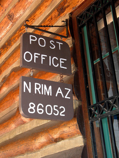 And yes, the North Rim has it's own Post Office located right at the Lodge.