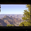 This view of the North Rim is framed by the rock window located below the Sun Room.