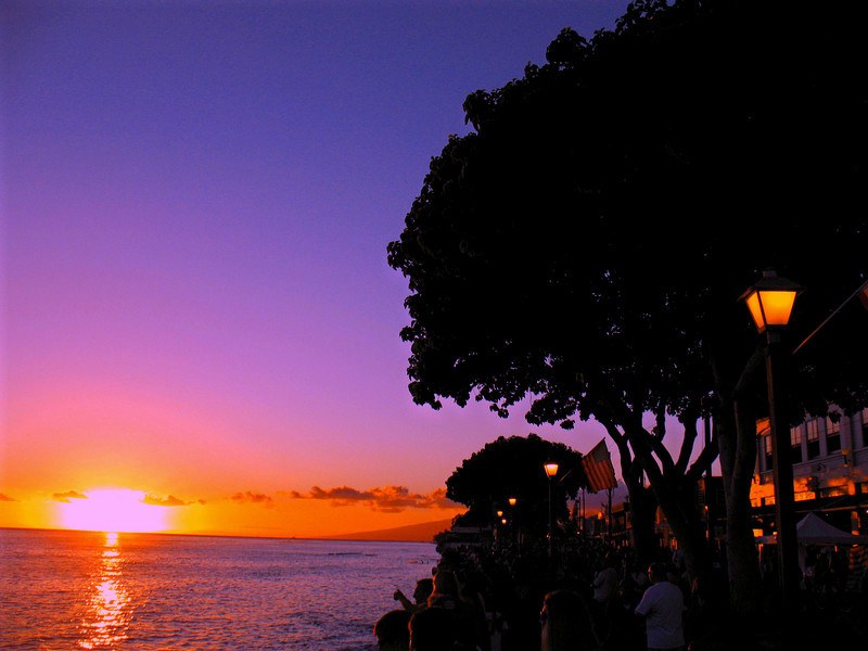 A Fourth of July Sunset on Front Street, Lahaina.
