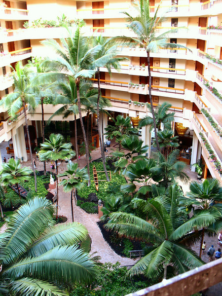 Another view of the gardens within the resort atrium.