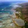 This is a view of the coral reefs along the Molokai shoreline.