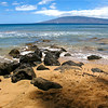 A view from the beach facing the island of Lanai.