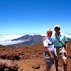 06/29/10: A view from the summit of Haleakala Crater at 10,023 feet. Hiking thru this area was truly a unique experience!