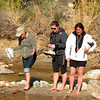 01/13/08: Diane, Lauren, and Annette crossing Sabino Creek