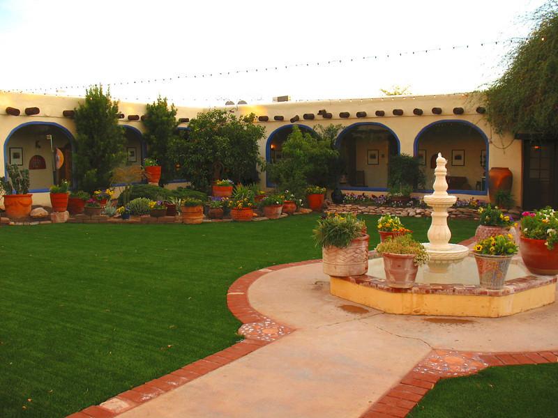 Inside the courtyard of the former school - Hacienda Del Sol