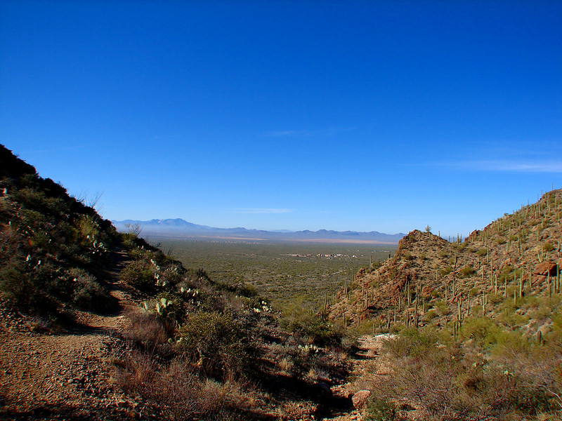 A view West through Gates Pass as we head towards the Sonoran Desert Museum