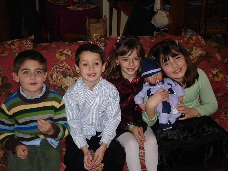 Nick, Tommy, Emma, and Talia