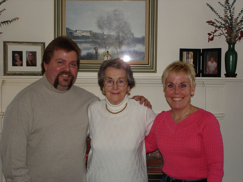 Chris, Aunt Marion, and Diane