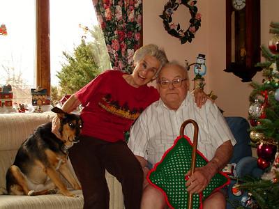 Eva and Doc on Christmas Day.
