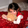 Ella and her teddy bear blanket.