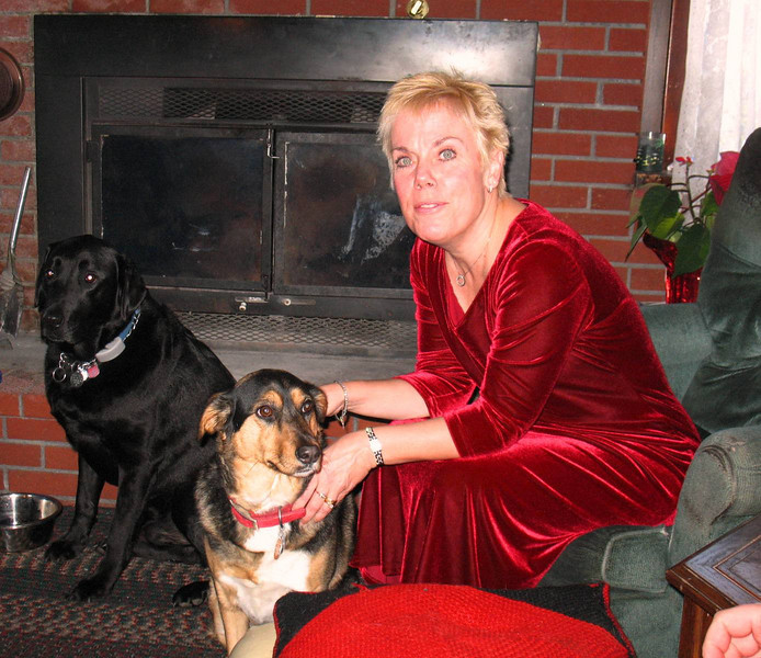 Christmas Day: Diane with Harley & Freeway.