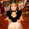 Genna and her doll in the same dress.