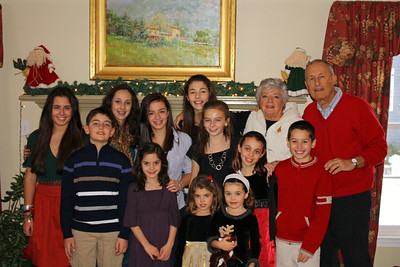 Mom and Dad with all of the Grandchildren.