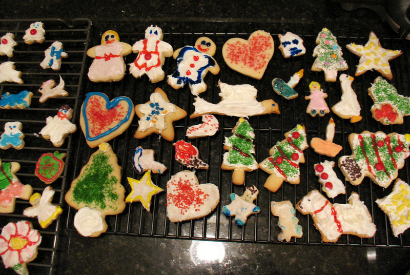 Christmas cookies made by Allison and Caroline Maguire.