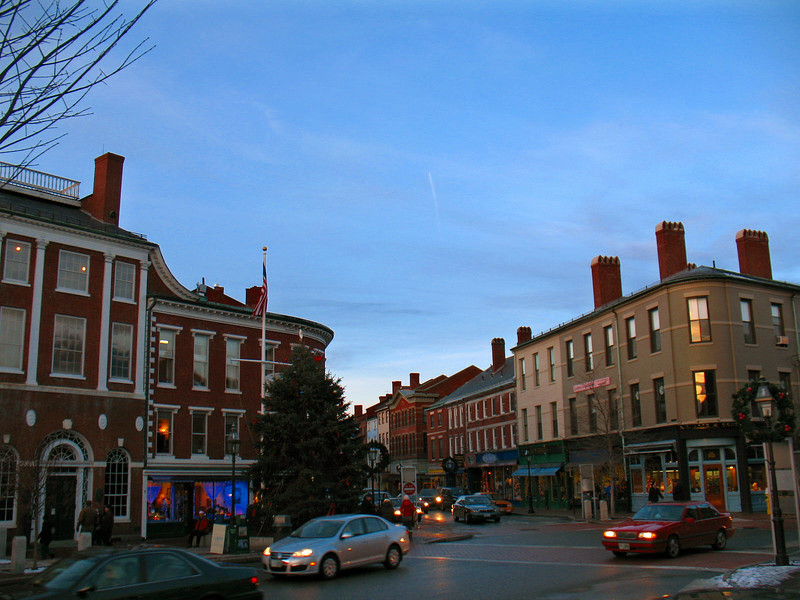 Downtown Portsmouth, NH.