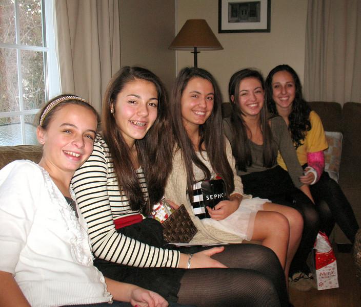 Emma, Talia, Ali, Julia, and Marisa.