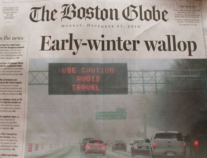 First Blizzard of the season causes a state of emergency for Massachusetts.