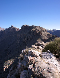 12/23/12: Hiking up Blackett's Ridge, Coronado National Forest.