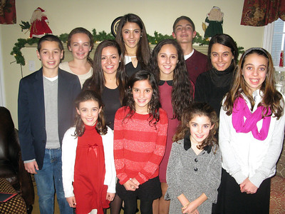 12/25/12: Our Nieces and Nephews on Christmas Day.