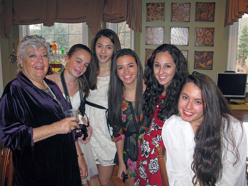 Mom, Emma, Talia, Julia, Marissa, and Ali.